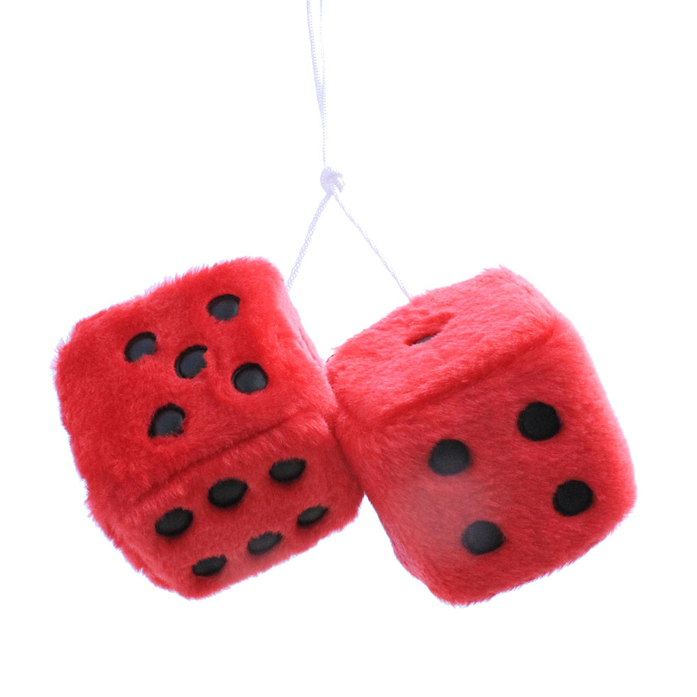 car pendant plush dice craps