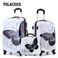 """20 """"+ 24"""" + 12 """"incrível hot vendas Japão conjuntos de bagagem borboleta ABS mala trolley/Pull Rod trunk/viajante com rodas spinner"""