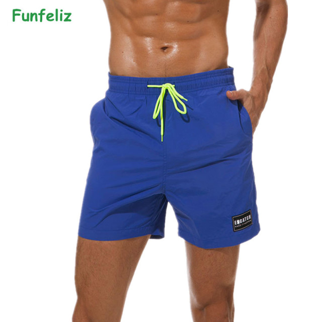 152261bbc Funfeliz Mens Surfing Beach Shorts Quick Dry Plus Size Boardshorts Swimming  Trunks for Boys M-