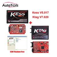 Новые KESS V2.47 V5.017 + Ktag V2.34 V7.020 мастер версия автомобиля ЭБУ чип тюнинг инструменты с бесплатной ECM Титан V1.61