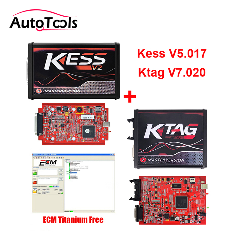 2018 newest KESS V2.47 V5.017+ Ktag V2.47 V7.020 master version car ECU chip tunning tools with free ECM TITANIUM V1.61 new ecm titanium 1 61 with 18475 driver can work with kess and ktag ecu programmer free shipping