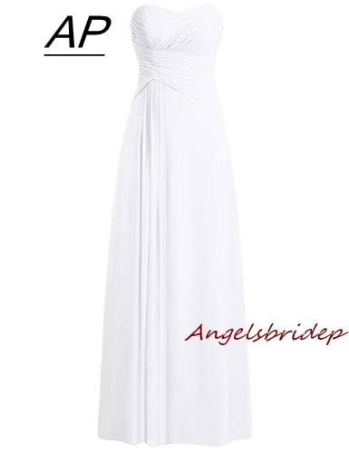 ANGELSBRIDEP Comfortable Chiffon Fabric Wedding Dress 2019 Latest Vestido De Noiva Charming Sweethear Floor Length Bridal