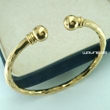 ФОТО 18k gold GF filagree greek key ladies women solid design bangle bracelet G111