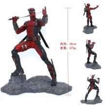 все цены на 26cm Super Hero X-Men DST Deadpool Statue Action Figure Figura collection Model Toy Doll Gift онлайн