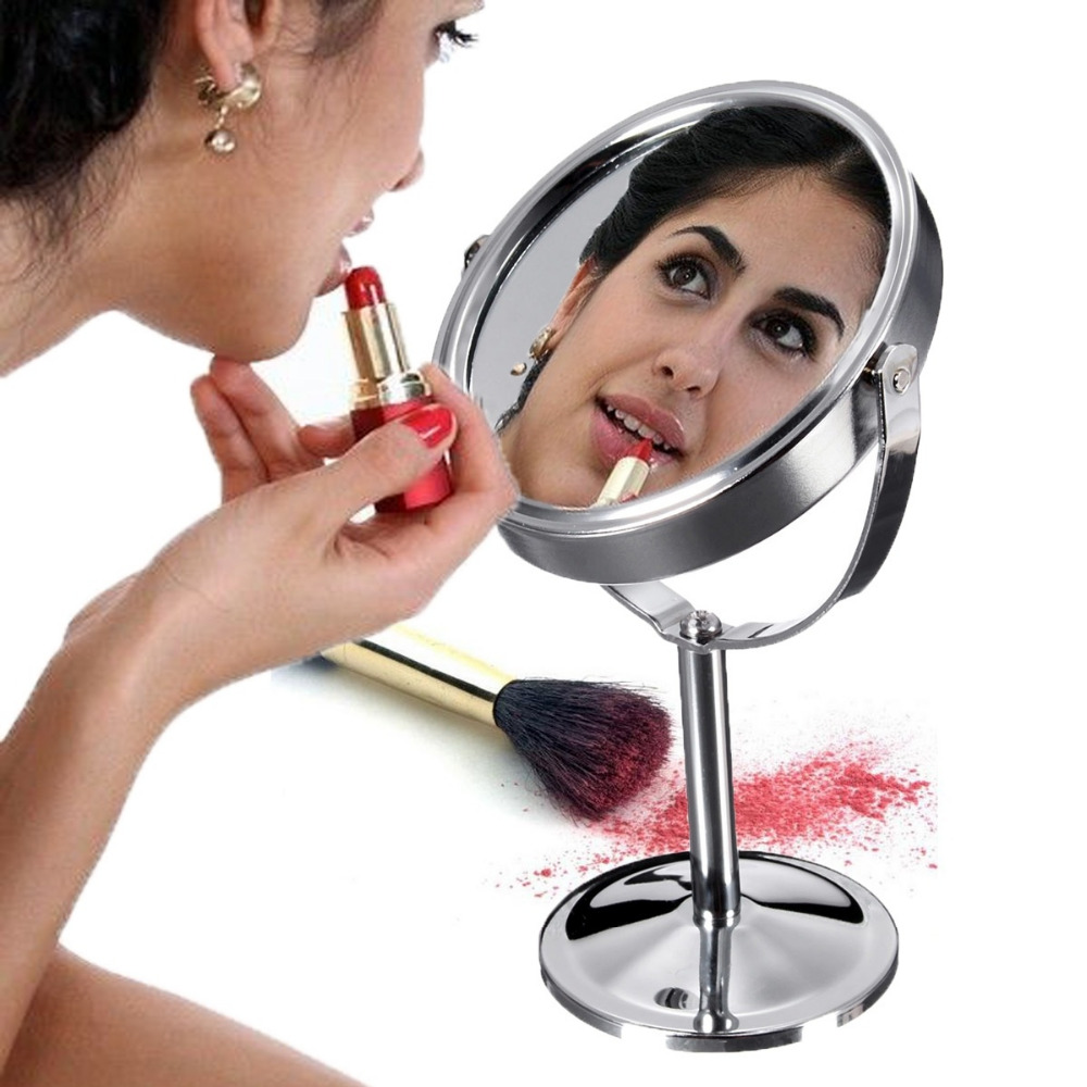 Schönheit & Gesundheit Original Schönheit Kosmetische Werkzeug Runde Kreis Kosmetikspiegel Double-side Normale Vergrößerungs Desktop-ständer Stil Spiegel Lange Lebensdauer