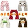 2015 caliente venta de la muchacha Legging primavera y otoño 100% algodón pantalones grandes de los Pp del bebé Legging infantiles pantalones para hombre ropa infantil culo