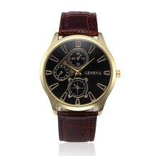 Бизнес Мода ретро дизайн часы для мужчин кожаный ремешок кварцевые наручные часы брендовые Роскошные спортивные цифровые Relogio Masculino Saat