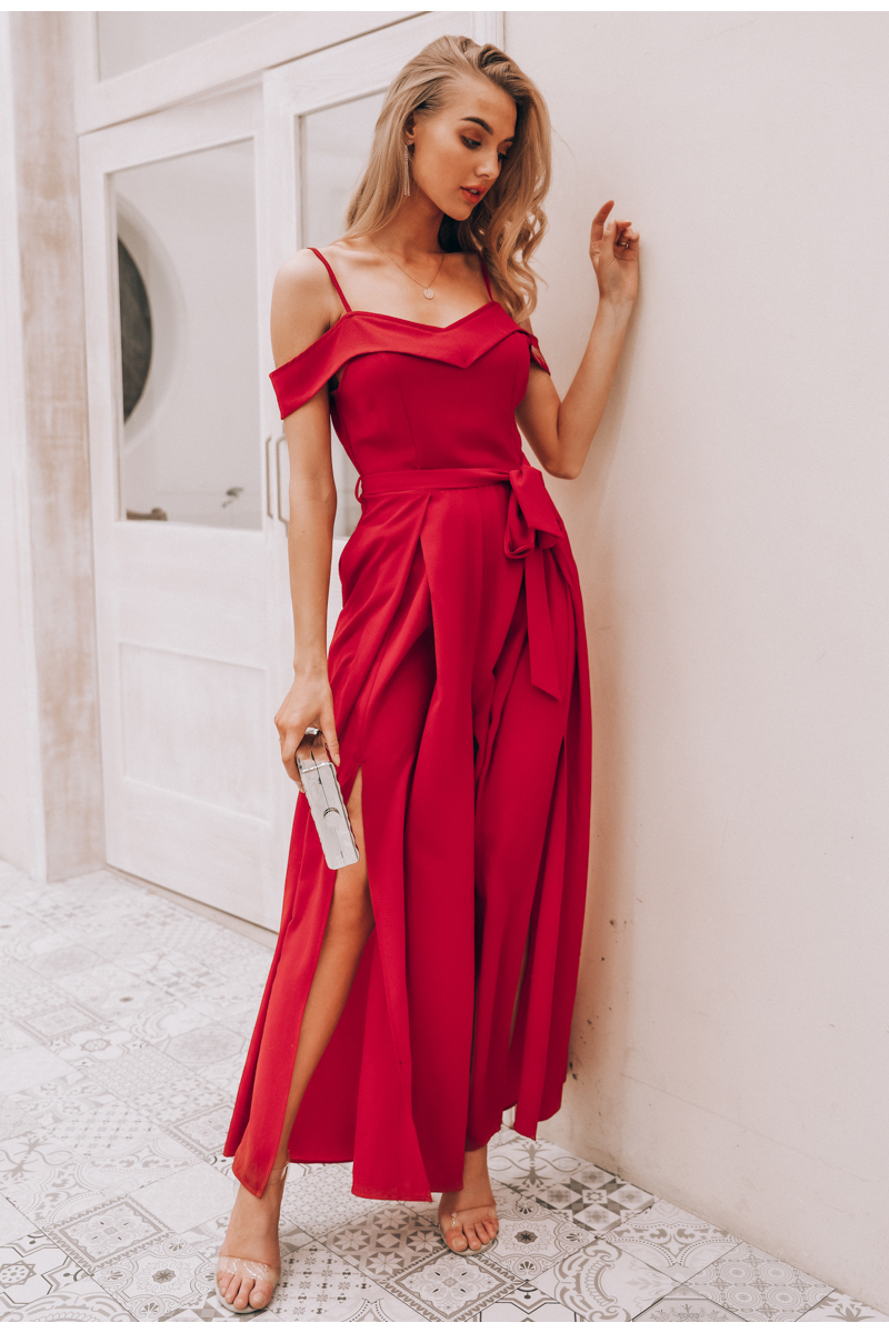 HTB1gAZHaFzsK1Rjy1Xbq6xOaFXav - Simplee Sexy off shoulder women jumpsuit romper Elegant high waist red jumpsuit long Summer wide leg lady playsuit overalls