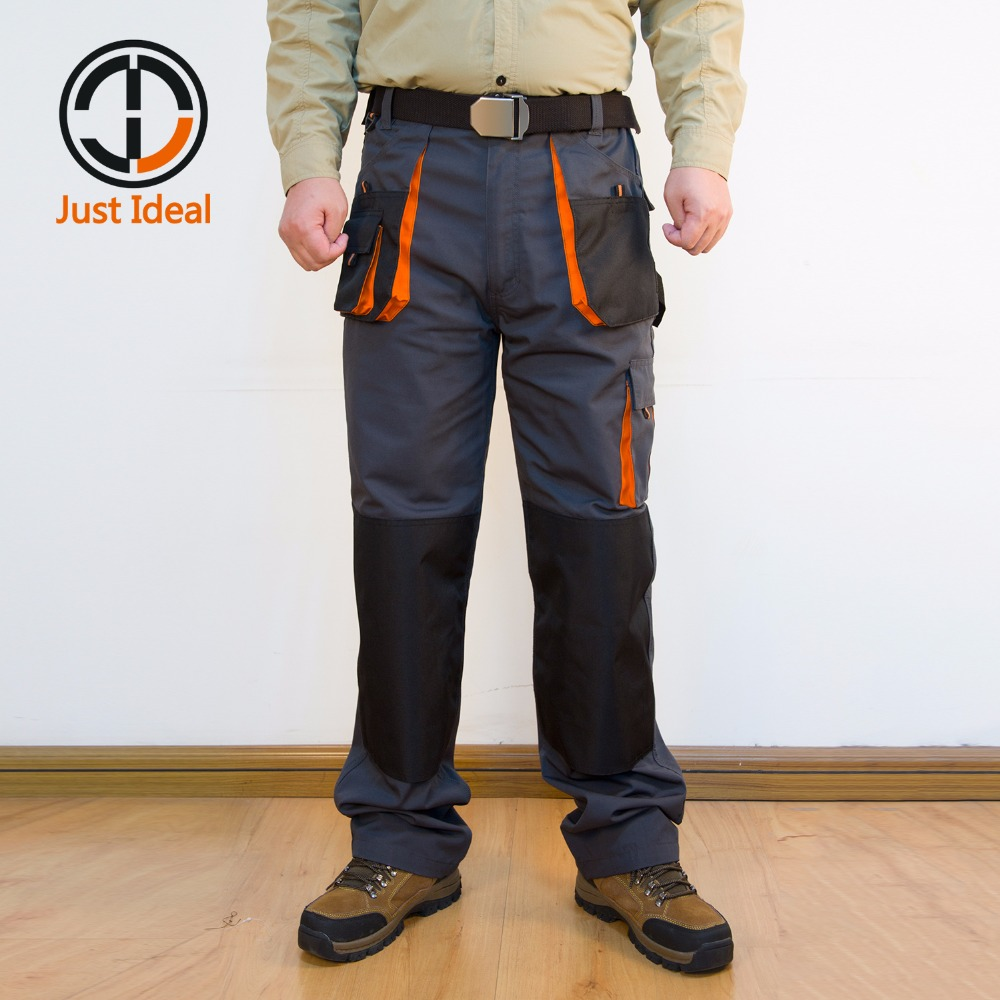 Calças Da Carga dos homens de Lona Trabalho Duro Vestindo Calças de Multi Bolso Oxford Impermeável Pant Casuais Roupas de Marca Tamanho Europeu ID617