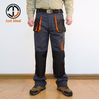 2017 Men S Cargo Pants Canvas Multi Pocket Loose Trousers Oxford Waterproof Long Pant European Size