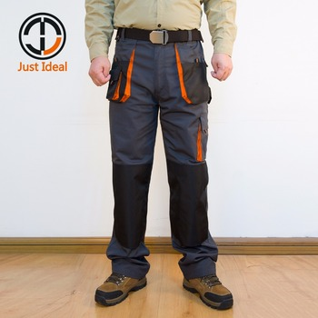 Mens Cargo Pants Canvas Hard Wearing Work Trousers Multi Pocket Oxford Waterproof Casual Pant Brand Clothing European Size ID617