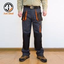 Pantalones Cargo para hombre, de trabajo lona, trabajo, Oxford bolsillo múltiple, casuales impermeables, ropa marca, talla Europea ID617