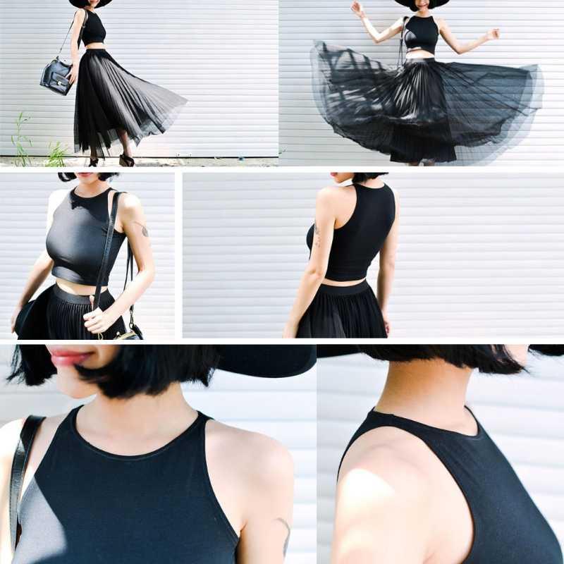 ملابس داخلية نسائية عادية ضمادة بلا أكمام تانك سليم بلايز قصيرة الصلبة Bodycon الصيف بلوزة