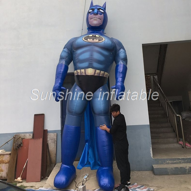 Powerful outdoor promotional giant inflatable batman super film hero for show