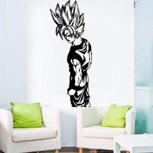 Removable Goku Super Saiyan Dragon Ball Wall Sticker Home Decor Room Interior Decal Art Vinilos Mural NY-422