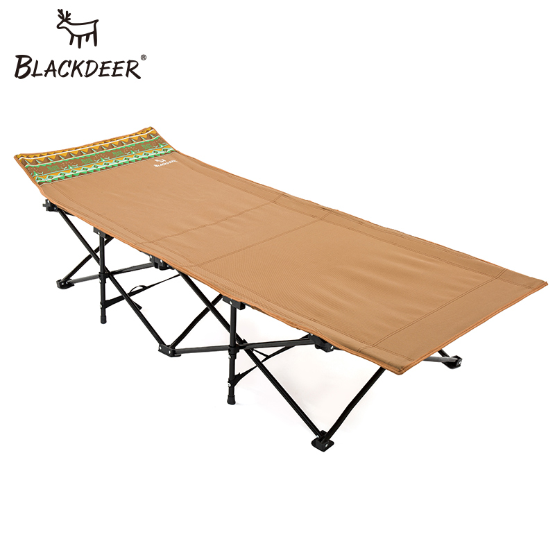 BLACKDEER 2018 New Camping Mat Sturdy Comfortable Portable Folding Tent Bed Cot Sleeping Oxford Outdoor Camping Bed