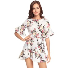 19db7320875 Cross-border for ebay amazon hot style dress round collar printed even the  garment seaside. 2 Colors Available