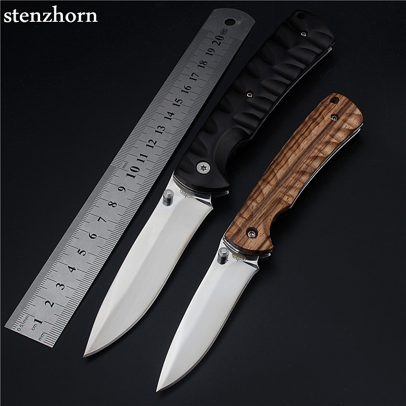 Stenzhorn 2017 Real New Wood Outdoor Fruit Knife Folding ...
