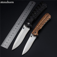 Stenzhorn 2017 Real New Wood Outdoor Fruit Knife Folding Self-defense Wilderness Survival Ebony Saber Wild Fishing Small Knives