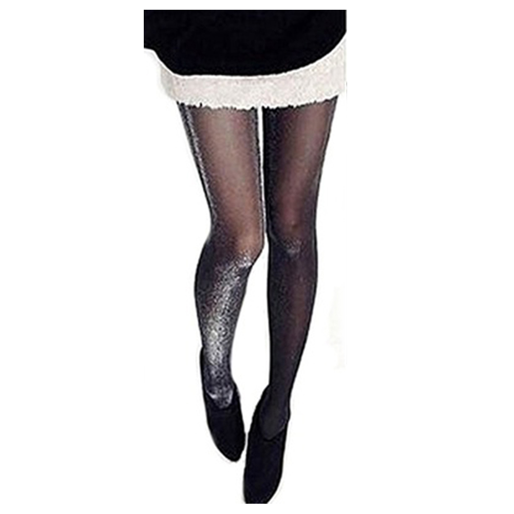 Shiny Pantyhose Glitter Stockings Womens Glossy Tights