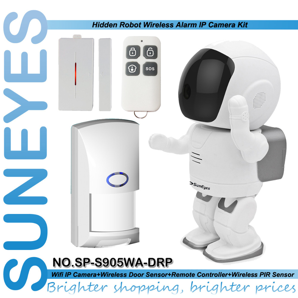 SunEyes SP-S905WA-DRP Wifi Robot Wireless 1.3MP 960P HD IP Camera with Door Sensor Remote Control PIR Sensor Security Camera lacywear s 2 drp