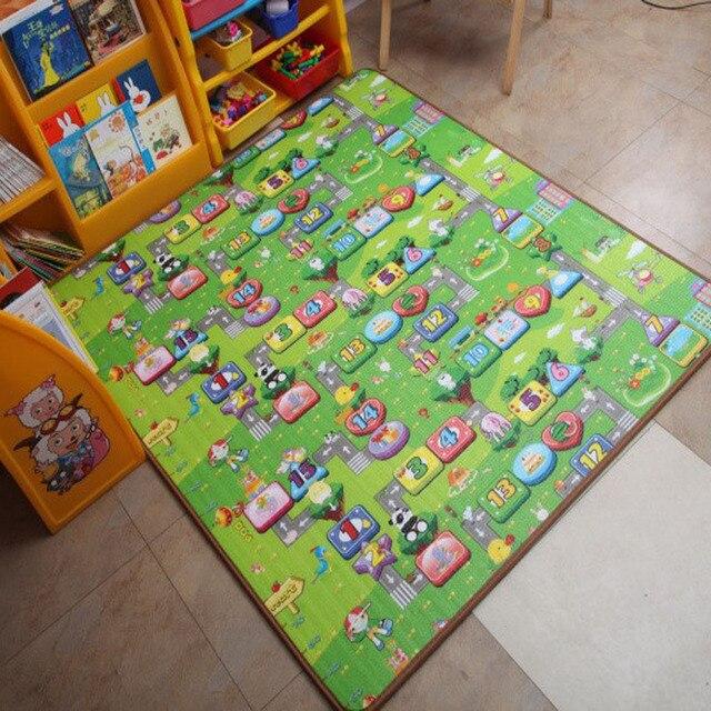 Горячая Продажа 1.8*1.2 М Дети Играют Мат Happy Увеличить Ребенка Ползать Коврик Две Стороны Ребенка Пикник Ковер оптовая