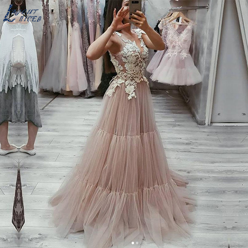 Celebrity Wedding Dresses 2019: SHJ063 Pink Celebrity Prom Gowns Evening Gowns 2019