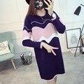 Одежда для беременных зима топ 2017 свитер платье основной рубашка осень цельный платье материнства свитер средней длины