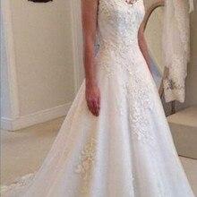 Alexzendra A Line Cap Sleeves Wedding Dresses Bride Dresses