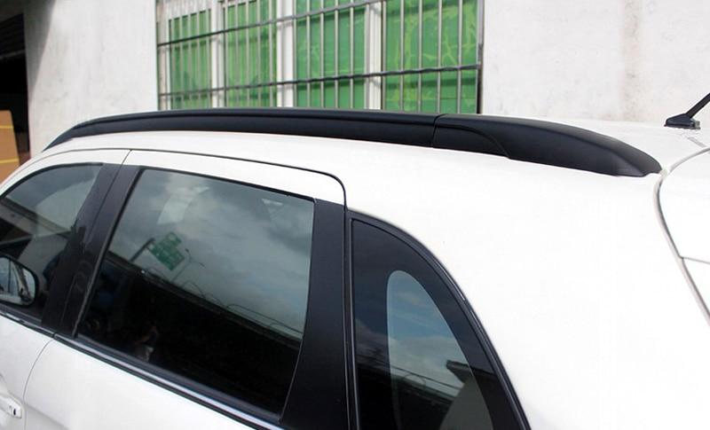 цена на Black! Car Styling Roof Top Mounted Rack Rails Bar For Mitsubishi ASX RVR 2010 2011 2012 2013 2014 2015 2016 2017