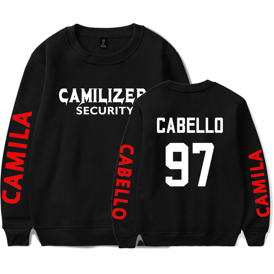 Women Clothes 2019 Sweatshirts Casual Long Sleeves Harujuku Never Be The Same Tour-Camila Cabello Womens Sweatshirts Pullover