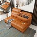 Wohnzimmer Sofa bett USB batterie ladung echte echtem leder sofas salon couch puff asiento muebles de sala canape sofa cama