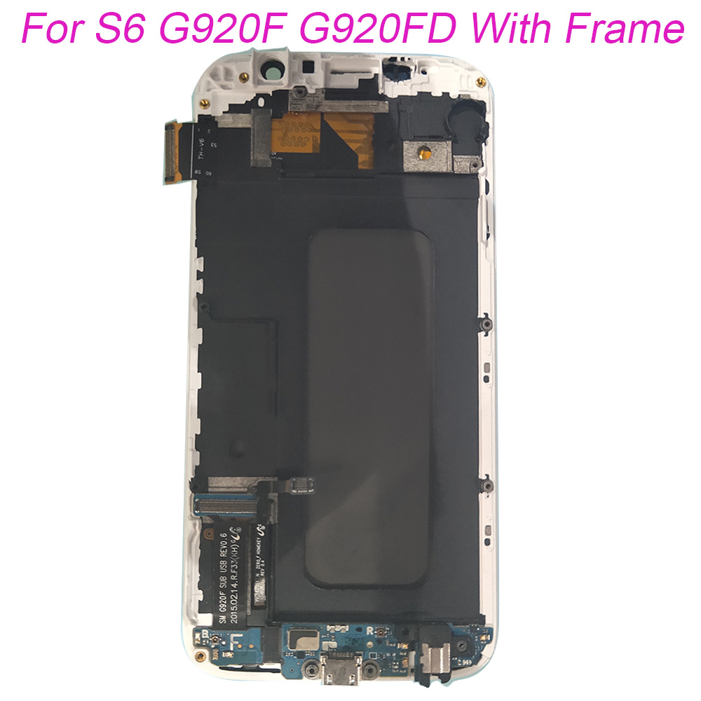 TFT For Samsung Galaxy S6 G920F G920 Touch Screen Digitizer LCD Display Frame For Samsung G920 G920FD G920FQ Assembly With FrameTFT For Samsung Galaxy S6 G920F G920 Touch Screen Digitizer LCD Display Frame For Samsung G920 G920FD G920FQ Assembly With Frame