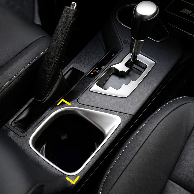 Only for left hand Drive CAR For Toyota RAV4 2016 2017 2018 Accessories Matte  Interior Water Cup Holder Cover Trim Frame  1pcs