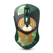 LM115G 2.4GHz Wireless Animal Pattern USB Optical Ergonomic Silent Gaming Mouse Gamer 1600DPI + 6 Buttons For PC Laptop Computer