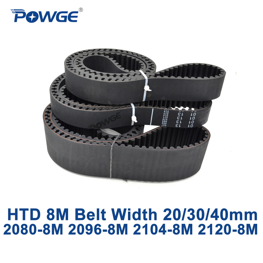 POWGE HTD 8M synchronous Timing belt C=2080/2096/2104/2120 width 20/30/40mm Teeth 260 262 263 265 HTD8M 2080-8M 2096-8M 2120-8M powge htd 8m synchronous belt c 520 528 536 544 552 width 20 30 40mm teeth 65 66 67 68 69 htd8m timing belt 520 8m 536 8m 552 8m