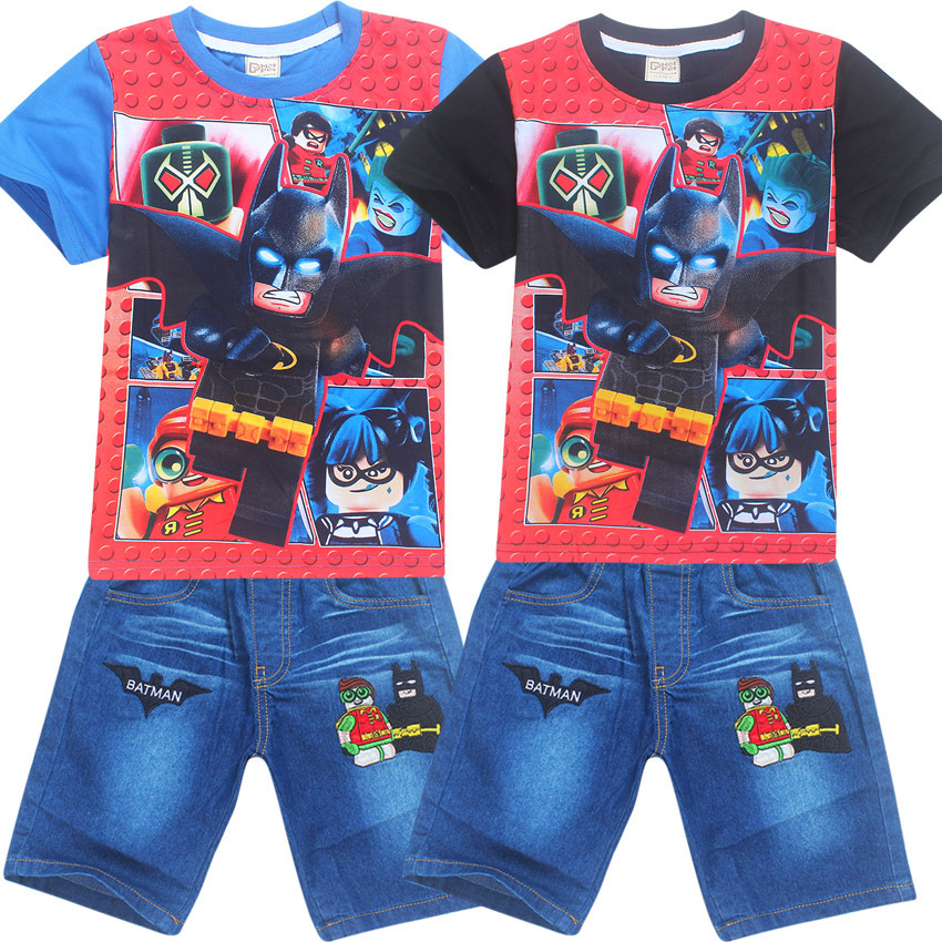 Boy Summer Clothing Legoe Characters Batman Ninja ninjago lepin Childrens Cotton T shirt Suits Baby Boys