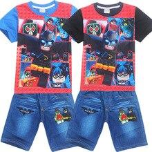 Garçon D'été Vêtements Legoe Caractères Batman Ninja ninjago lepin Pour Enfants Coton T-shirt Costumes Bébé Garçons Enfants Shorts jeans Ensembles