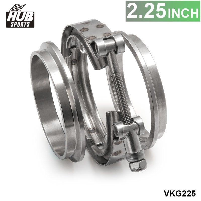 42cbc0dcb0a7 2.25 Выпускной нержавеющей Универсальный V-Band зажим и фланец комплект  v-диапазон HU-VKG225
