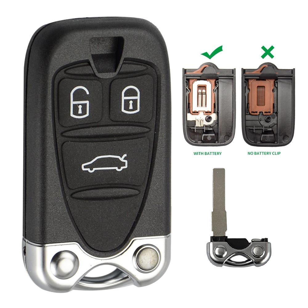 OkeyTech для Alfa Romeo 159 156 Giulietta автомобиль Brera spider GT пульт дистанционного управления смарт-ключ карта 3 кнопки с невырезанным лезвием и брелок для ключей