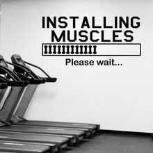 Muscles Quote Wall Decal Gym Bodybuilding Vinyl Sticker Sport Fitness Motivation Decoration Art Mural Sports AY976