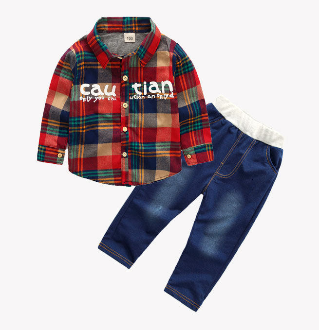 HTB1gAajXoLrK1Rjy1zbq6AenFXaD - Boys Spring Two Fake Clothing Sets Kids Boys Button Letter Bow Suit Sets Children Jacket + Pants 2 pcs Clothing Set Baby