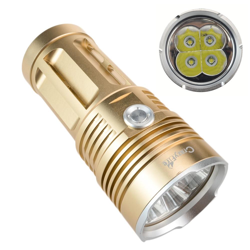 3 mode crazyfire led flashlight portable lantern 5000 lumens 4xcree xm l t6 led bulb requires. Black Bedroom Furniture Sets. Home Design Ideas