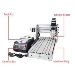 Maszyna do grawerowania CNC Mini CNC 3020 3 osi drewna wiercenia tokarka z 300 W wrzeciona frezy w Frezarki do drewna od Narzędzia na