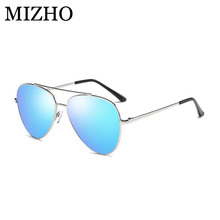 MIZHO Hot Pink Elastic Support Women Sunglasses Unisex Polarized Aviadors Alloy Mirror Strong UV Protection Glasses Men Driving