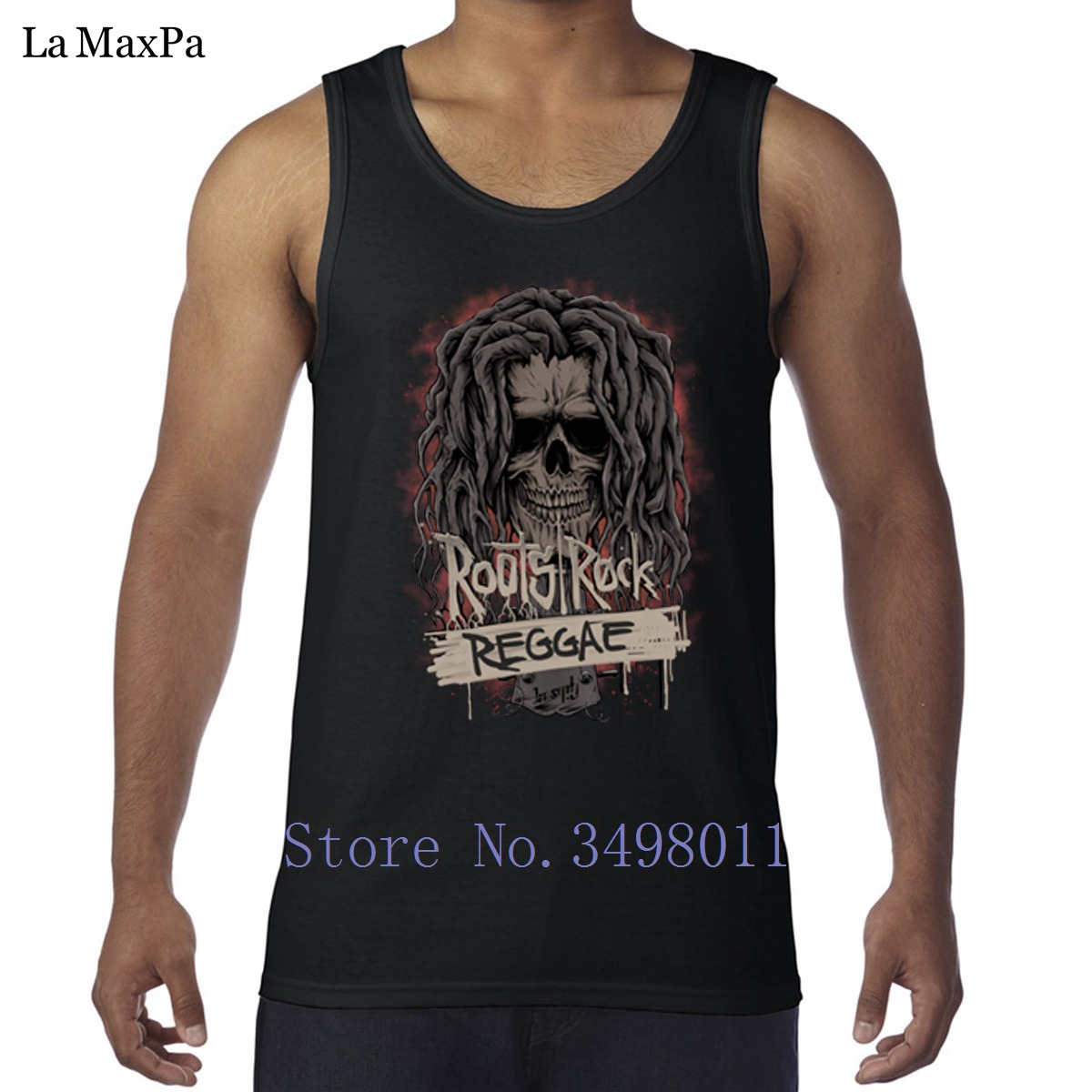 7d3702fe Designs Novelty Roots Rock Reggae Tank tops men Undershirt Comfortable men  Vest Sleeveless fun workout Round