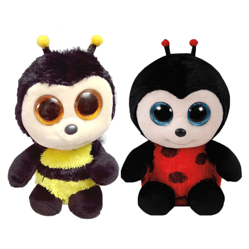 New Hot TY Beanie Boos Black Bees Big Eyes Animals Stuffed Plush Toys Best  Gift for Children Toy TY Nano Dolls Educational Toys 0f6400720552