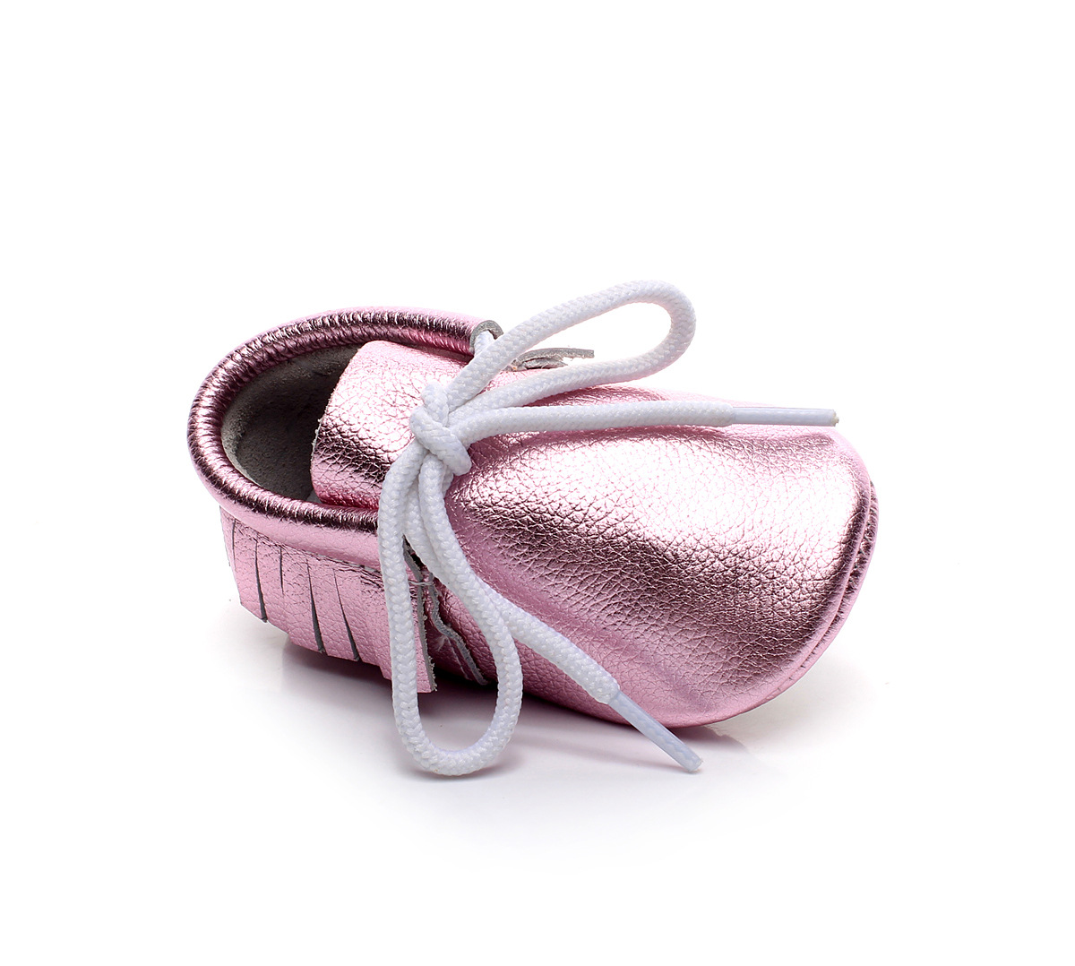 HONGTEYA Leather Baby Moccasins Boots Hard Sole Lace Up Genuine Leather Girl Boys Handmade Toddler Shoes