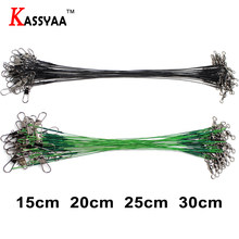 KASSYA 5PCS 15CM 20CM 25CM 30CM Fishing Lure Trace Rope Wire Leader Line Swivel Tackle Spinner Shark Spinning Pesca Lines Fish(China)