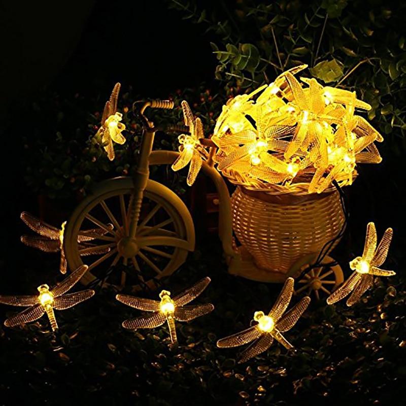 Dragonfly Solar String Φώτα 20 LED αδιάβροχο Fairy - Φωτισμός διακοπών - Φωτογραφία 4